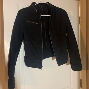Express black denim jacket